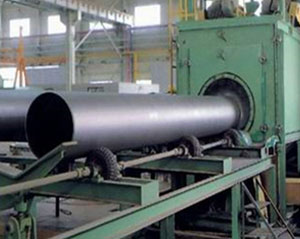 Abrasive Blast Cleaning Steel Pipe
